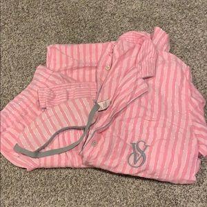 Victoria secret long sleeve Pajama 3 piece set